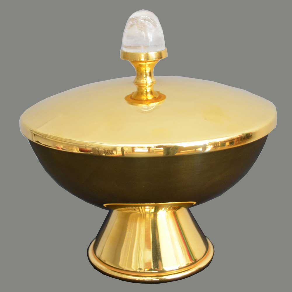 Ciborium with rock crystal