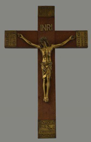Holzkreuz Mit Messingkorpus
