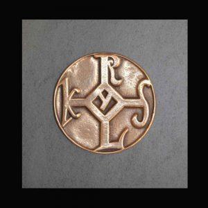 Karlssiegel Bronze Auf Schiefer