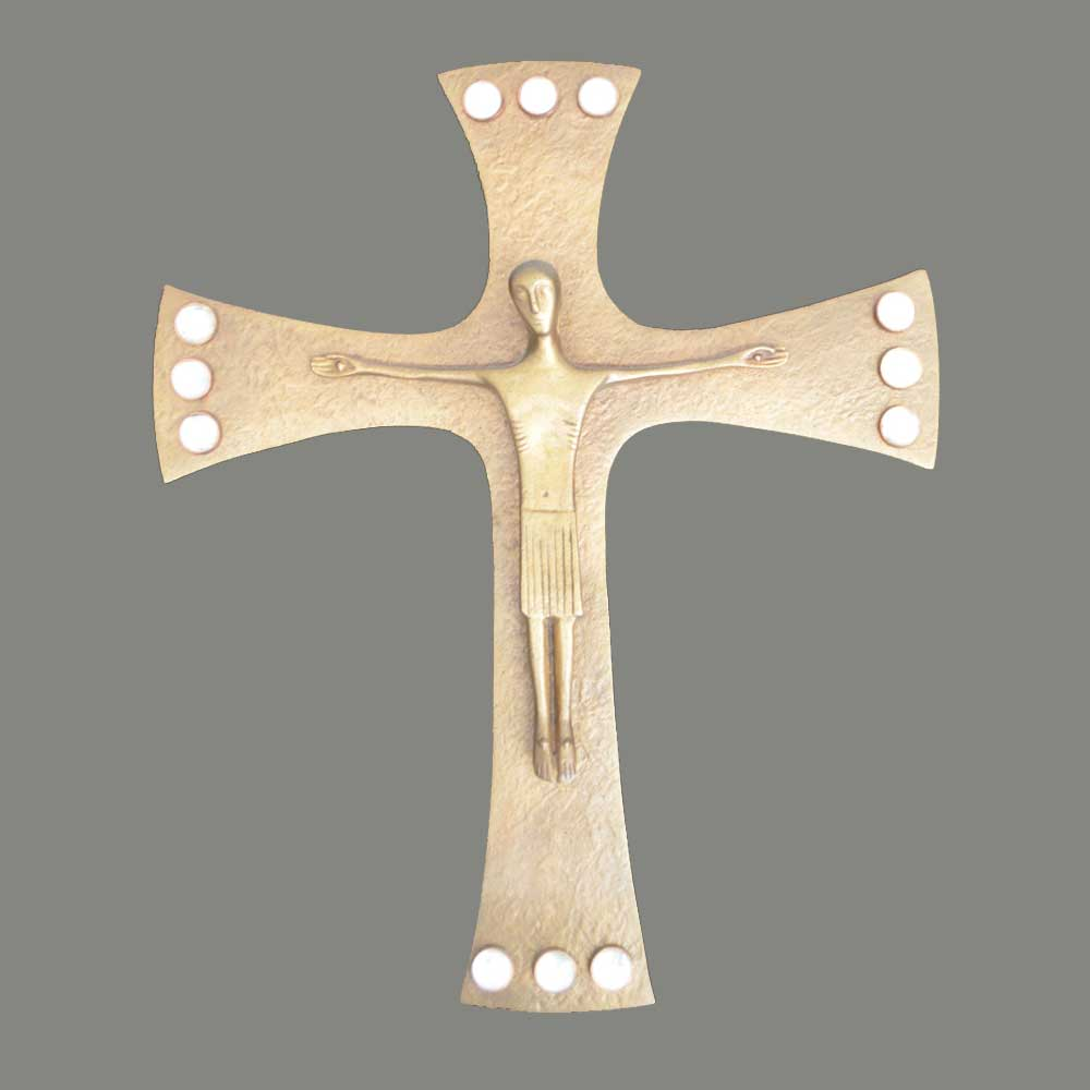 Cross with rock crystals