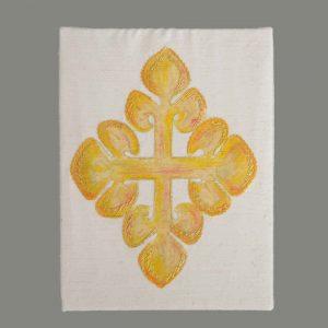 Kreuz Gold Handgestickt