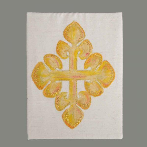 Gesticktes Kreuz Gold