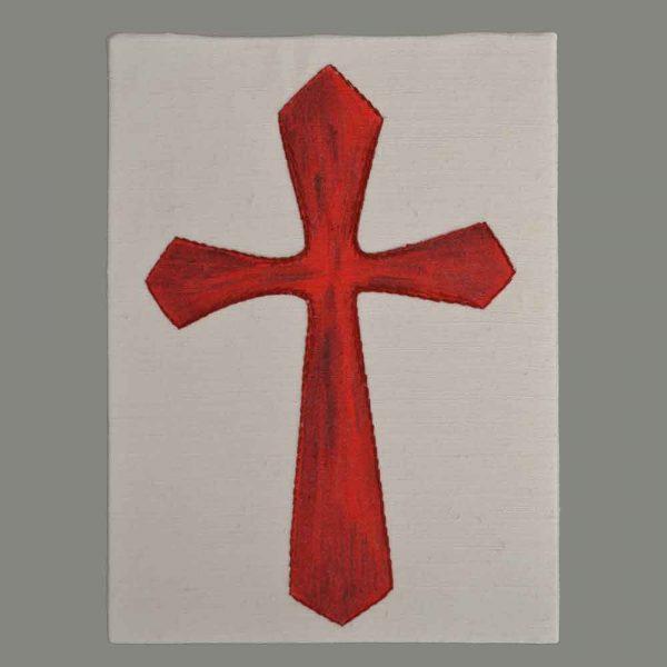 Gesticktes Kreuz Rot