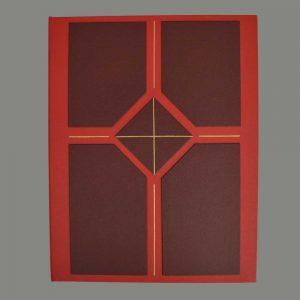 Ringbuchmappe, Rot Mit Auflage