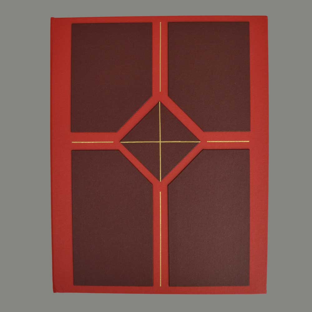 Ring binder, red with pad