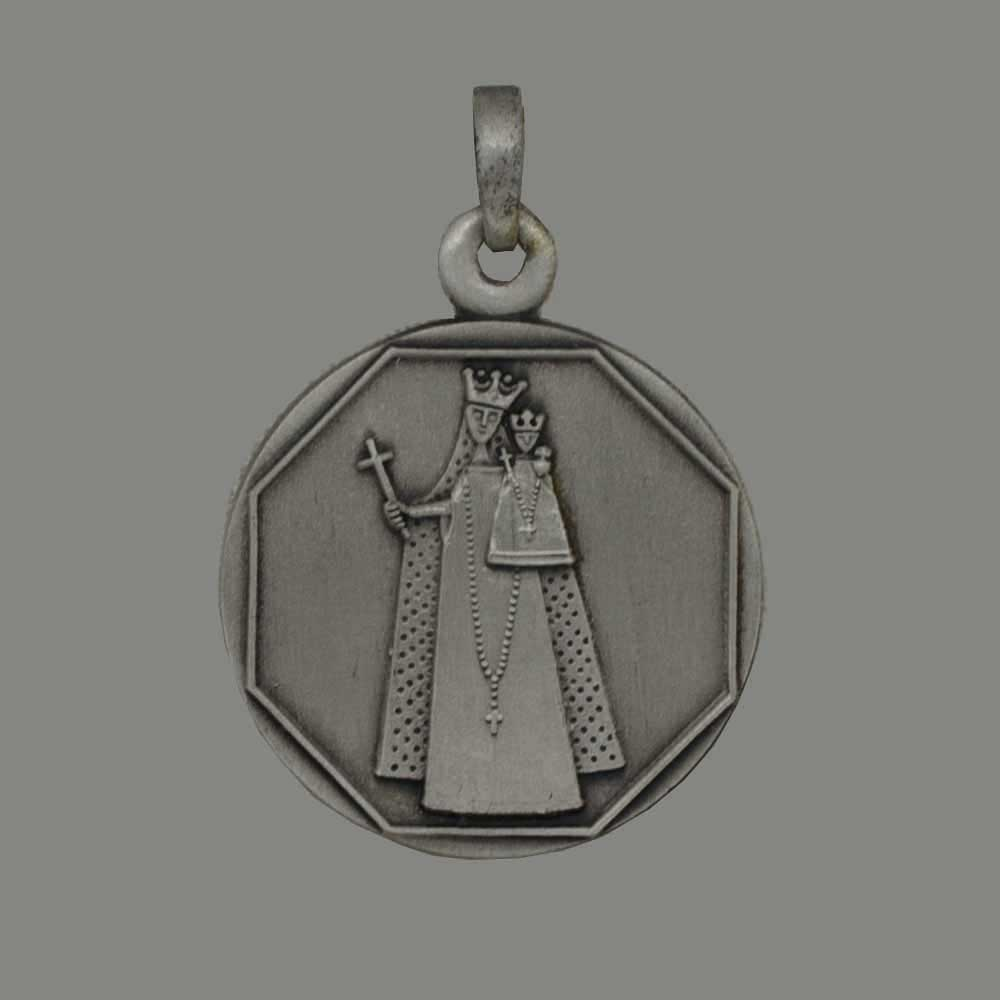 Nuestra Señora de Aquisgrán, colgante de plata 925 en escabeche