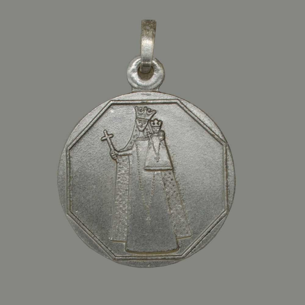 Our Lady of Aachen, silver 925 brushed pendant
