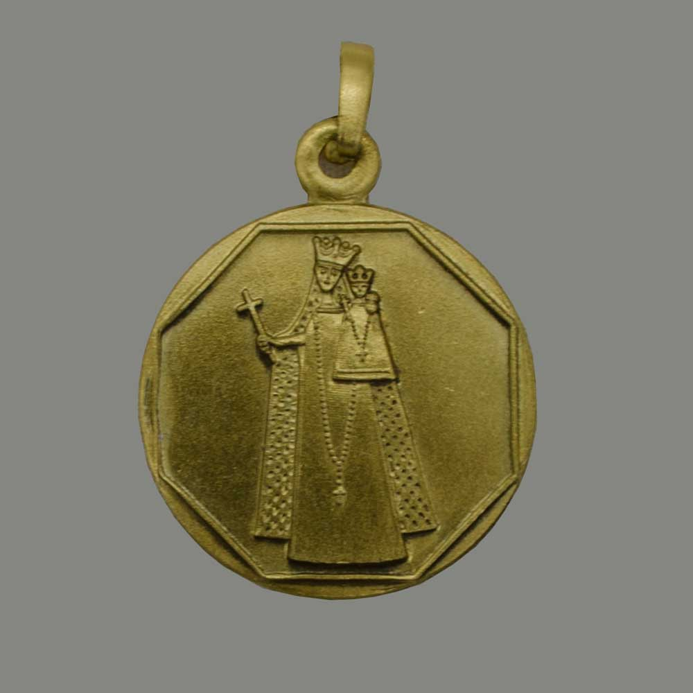 Nuestra Señora de Aquisgrán, colgante de plata con baño de oro 925